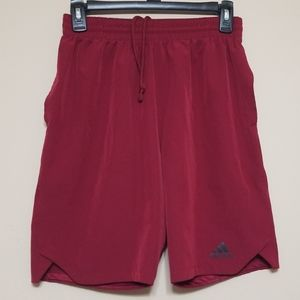 ADIDAS Boys burgundy shorts